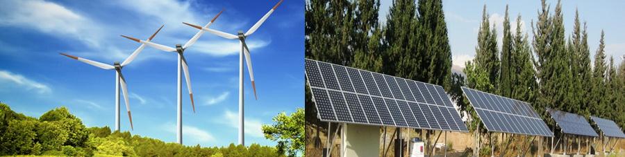 الطاقة الشمسية و طاقة الرياح